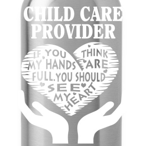 Child care provider - You should see my heart tee - Water Bottle
