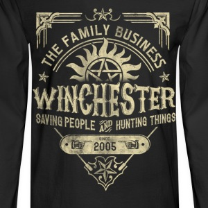 Winchester - Saving people and hunting things tee - Men's Long Sleeve T-Shirt