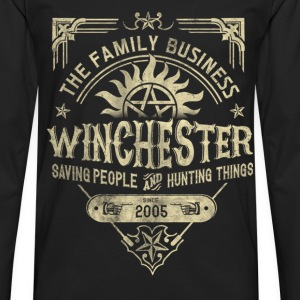 Winchester - Saving people and hunting things tee - Men's Premium Long Sleeve T-Shirt