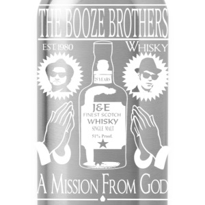Whiskey - The booze brothers est 1980 t-shirt - Water Bottle