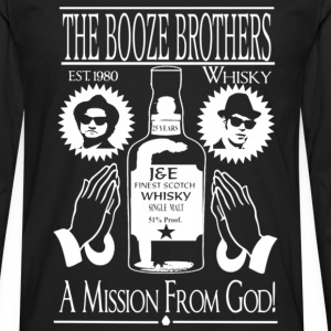 Whiskey - The booze brothers est 1980 t-shirt - Men's Premium Long Sleeve T-Shirt