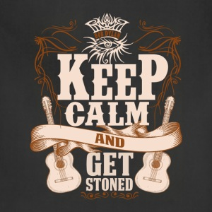 Guitarist - Keep calm and get stoned t-shirt - Adjustable Apron