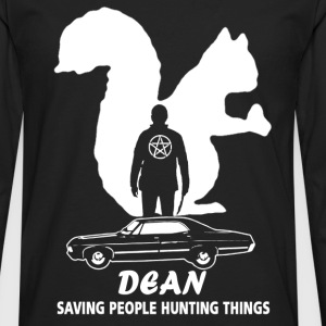 Dean supernatural Saving people and hunting things - Men's Premium Long Sleeve T-Shirt