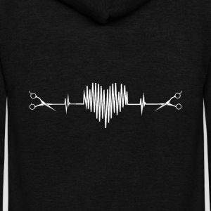 Hairdresser - Awesome hairstylist heartbeat Tshirt - Unisex Fleece Zip Hoodie by American Apparel