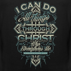 Christian - I can do all things through Christ tee - Men's Premium Tank