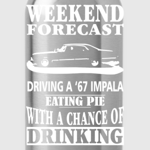 A 67 Impala - Weekend forecast awesome t-shirt - Water Bottle