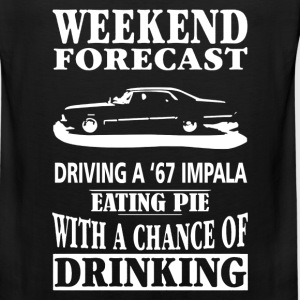 A 67 Impala - Weekend forecast awesome t-shirt - Men's Premium Tank