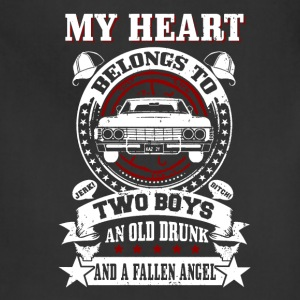 My heart belongs to: Two boys An old drunk And... - Adjustable Apron
