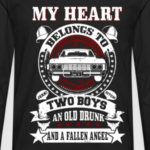 My heart belongs to: Two boys An old drunk And... - Men's Premium Long Sleeve T-Shirt