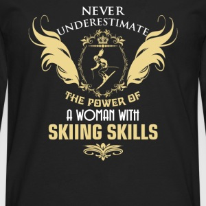 Skiing - The power of a woman with skiing skills - Men's Premium Long Sleeve T-Shirt