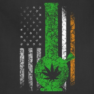 Irish flag with marijuana t-shirt - Adjustable Apron