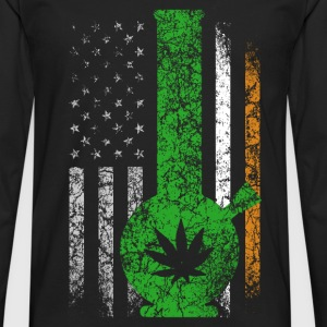 Irish flag with marijuana t-shirt - Men's Premium Long Sleeve T-Shirt
