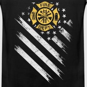American firefighter department flag - Men's Premium Tank