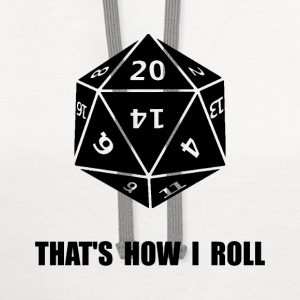 20 Sided Dice Roll - Contrast Hoodie