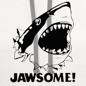 T-shirt for Shark lover - Jawsome - Contrast Hoodie