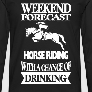 Horseman - Horse riding with a chance of drinking - Men's Premium Long Sleeve T-Shirt