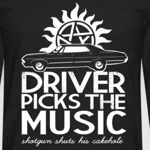 Supernatural - Driver picks the music cool t-shi - Men's Premium Long Sleeve T-Shirt
