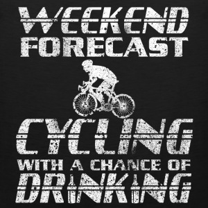 Weekend Cycling with a chance of drinking tee - Men's Premium Tank