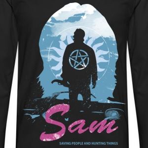 Sam Supernatural Tshirt for supernatural fan - Men's Premium Long Sleeve T-Shirt