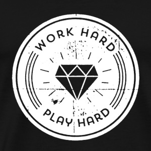 Work Hard Play Hard Shirt - Men's Premium T-Shirt