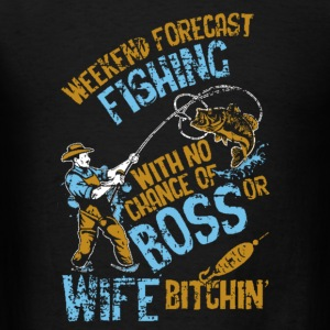 Weekend Forecast Fishing - Men's T-Shirt