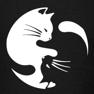 Cat Yin Yang Shirt - Men's T-Shirt