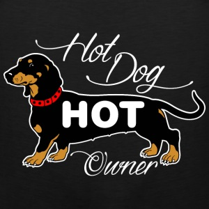 Hot Dog Hot Owner T-Shirts - Men's Premium Tank
