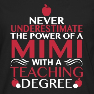 Mimi With Teaching Degree - Men's Premium Long Sleeve T-Shirt
