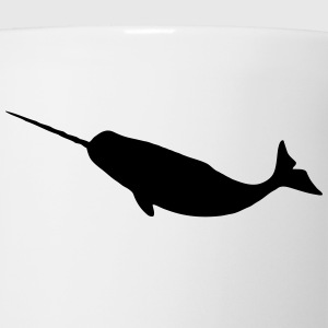 Narwhal Silhouette Kids' Shirts - Coffee/Tea Mug