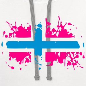 Norway Painted Flag T-Shirts - Contrast Hoodie