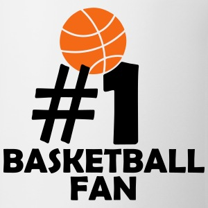 #1 BASKETBALL FAN (Number One) Kids' Shirts - Coffee/Tea Mug