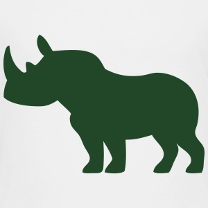 Rhinoceros Animal Silhouette (Horn) Kids' Shirts - Toddler Premium T-Shirt