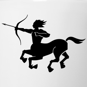 Sagittarius (Horseman Archer Silhouette) Kids' Shirts - Coffee/Tea Mug