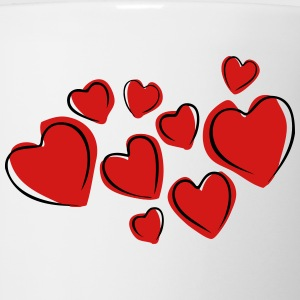 Love Hearts Floating (Drawing) T-Shirts - Coffee/Tea Mug