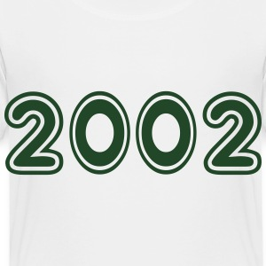 2002, Numbers, Year, Year Of Birth Kids' Shirts - Toddler Premium T-Shirt