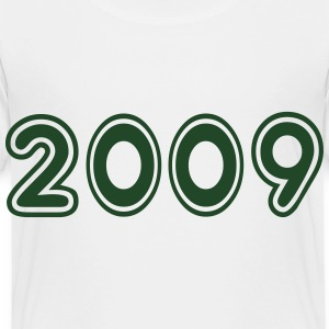 2009, Numbers, Year, Year Of Birth Kids' Shirts - Toddler Premium T-Shirt