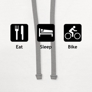 Eat Sleep Bike - Contrast Hoodie