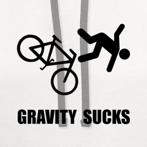 Gravity Sucks Bike - Contrast Hoodie