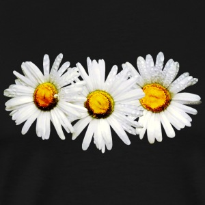 White Daisies in the Rain Long Sleeve Shirts - Men's Premium T-Shirt