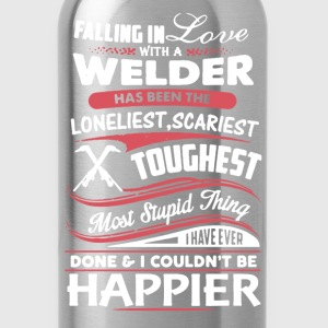 Fall In Love With Welder - Water Bottle