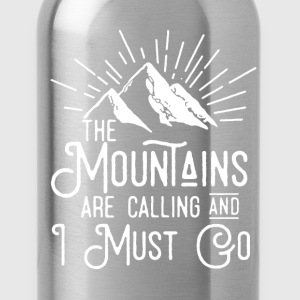 The Mountains Shirt - Water Bottle