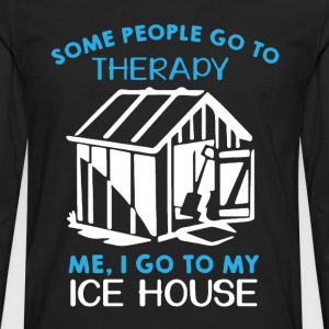 Ice House Therapy Shirt - Men's Premium Long Sleeve T-Shirt