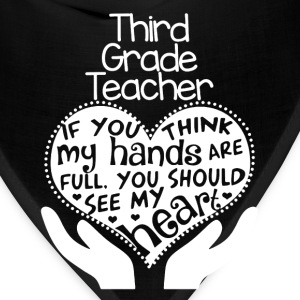 3rd Grade Teacher Shirt - Bandana