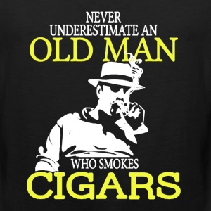 Old Man Who Smokes Cigars - Men's Premium Tank