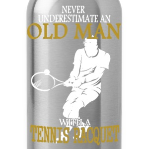 Old Man With Tennis Racquet - Water Bottle