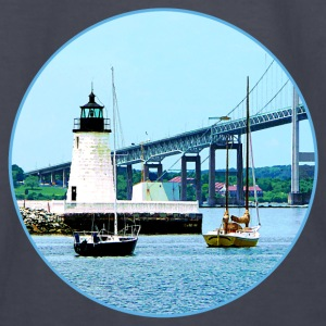 Lighthouse, Bridge and Boats, Newport, RI Hoodies - Kids' Long Sleeve T-Shirt