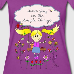 Find Joy in Simple Things Design - Women's Premium T-Shirt