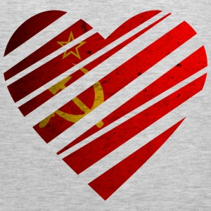 Soviet Union Heart T-Shirts - Men's Premium Tank