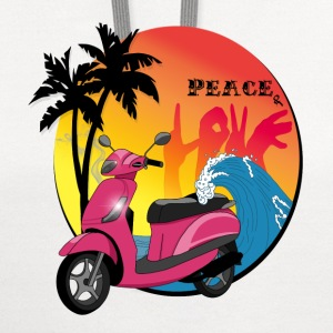 Peace and love - Contrast Hoodie
