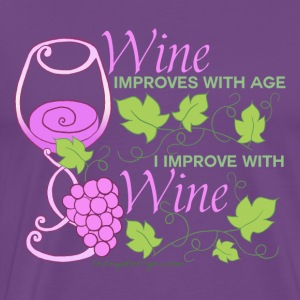 Wine Improves With Age - Men's Premium T-Shirt